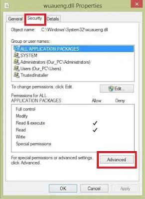 Method#2 : Rename The Windows Update Service File