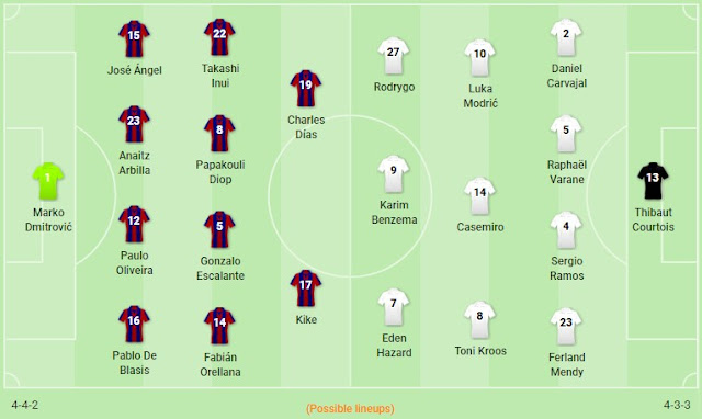 Prediksi Eibar vs Real Madrid — 10 November 2019