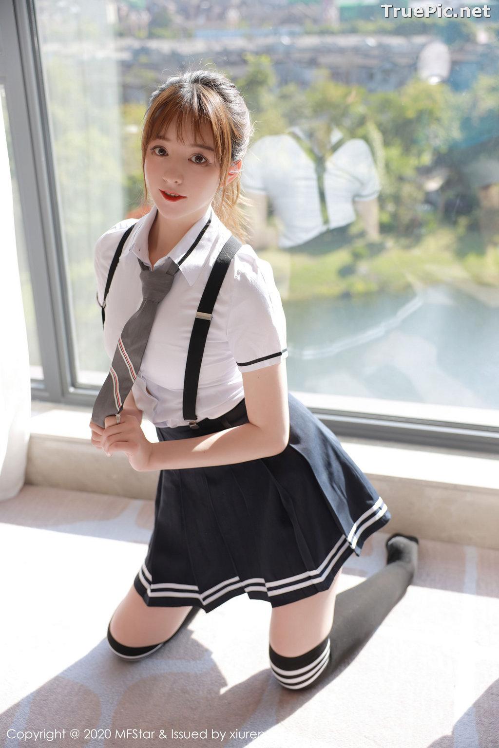 Image MFStar Vol.390 - Chinese Model - yoo优优 - Sexy Student Uniform - TruePic.net - Picture-6