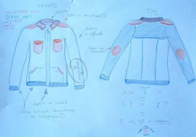 Adzik tworzy - kurtka jeansowa DIY ze spodni projekt
