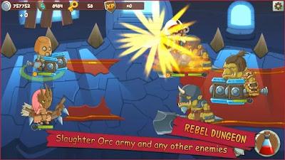 Sekarang aku akan kembali lagi dalam membagikan kepada sobat semuanya sebuah game androi Unduh Game Tiny Heros  Apk v1.6.0 Mod