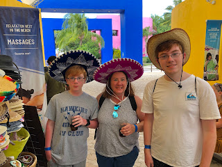 David Brodosi and family visiting shops in Cozumel Mexico