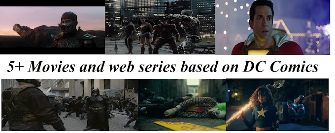 5+ Movies and web series based on DC Comics