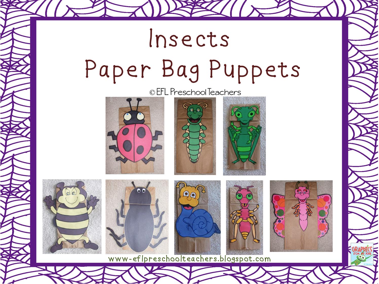 Esl Efl Preschool Teachers Insects