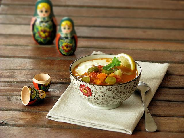 recette facile de soupe d'hiver russe avec de la viande