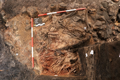 Three skeletons believed to be victims of medieval ritual killing unearthed in South Moravian castle