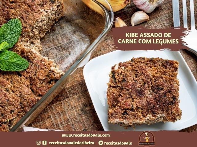 Receita de Kibe Assado de Carne com Legumes