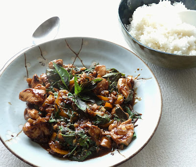 Thai Basil Chicken with rice