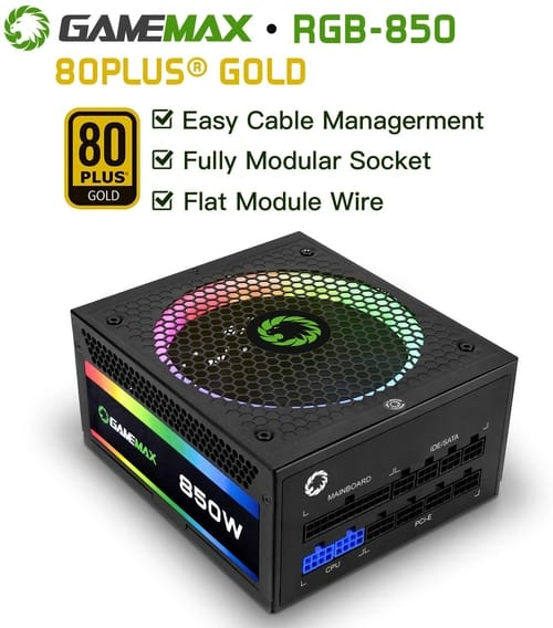 Review GAMEMAX ATX Power Supply 850W Fully Modular