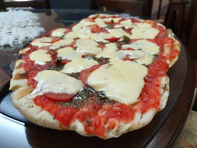 Unas pizzas a la parrilla hechas por mi