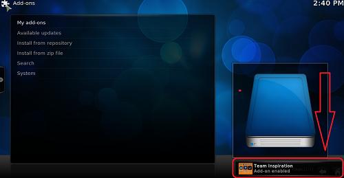 تركيب إضافة inspiration live tv لمشاهدة أفضل القنوات العالمية على برنامج Kodi