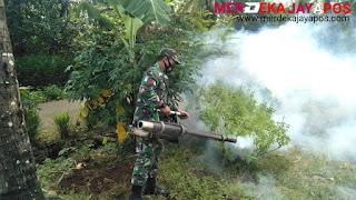 Babinsa Bersama Dinkes Minimalisir Penyebaran Wabah Nyamuk DBD Dan  Chikungunya