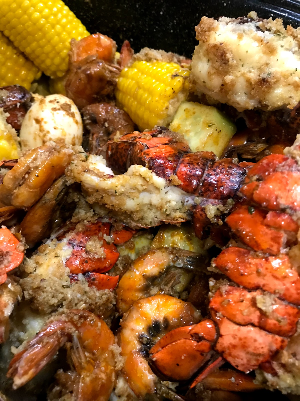 Having a seafood boil for the Holidays. We will be serving fried catfish, lobster, boiled corn, eggs, and peeled shrimp
