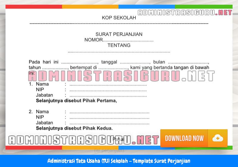 Contoh Format Surat Perjanjian Administrasi Tata Usaha Sekolah Terbaru Tahun 2015-2016.docx