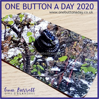 One Button a Day 2020 by Gina Barrett - Day 177 : Snake