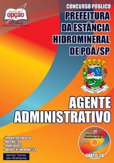 Apostila Prefeitura de Poá-SP - Agente Administrativo