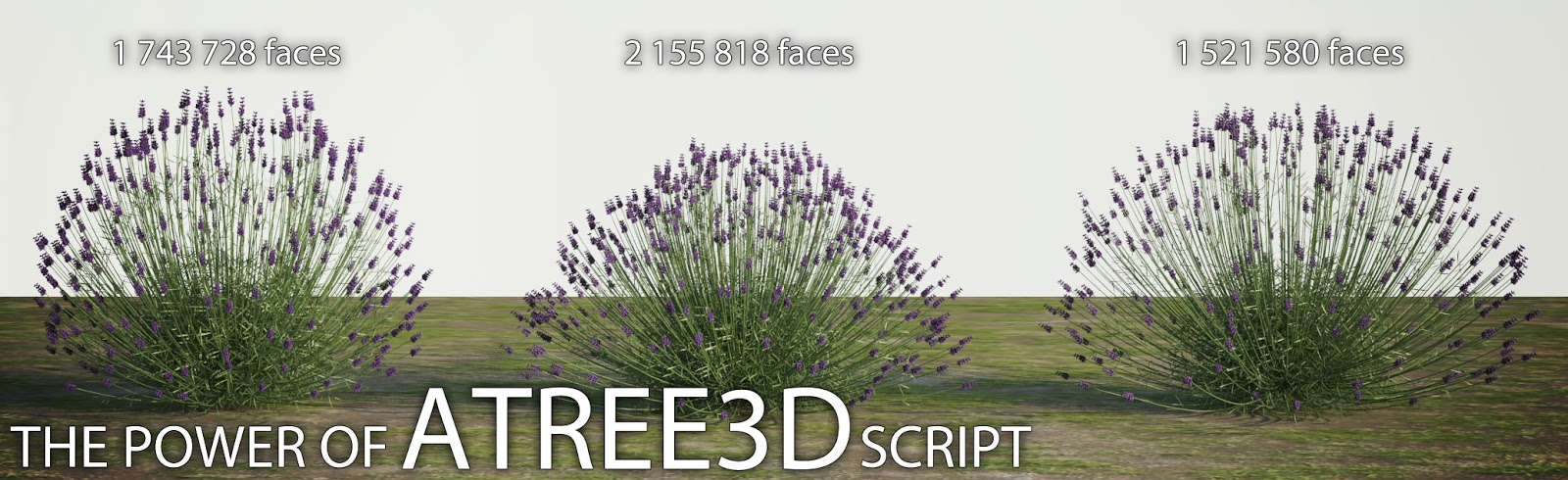 FreeDeeLab / TrzyDeLab: Freebies - new HQ 3d models of Lavender