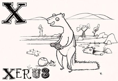 dotmund: X is for African ground squirrel