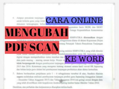 Cara Mengubah PDF Scan ke Word Secara Online Gratis