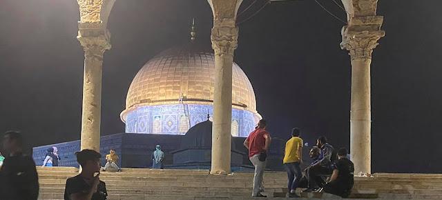 La Mezquita de la Cúpula de la Roca, en Jerusalén Este, un día después de que se produjeran enfrentamientos entre la policía israelí y los palestinos el viernes 7 de mayo de 2021.Yahya Arouri