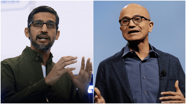 Google's Pichai, Microsoft's Nadella