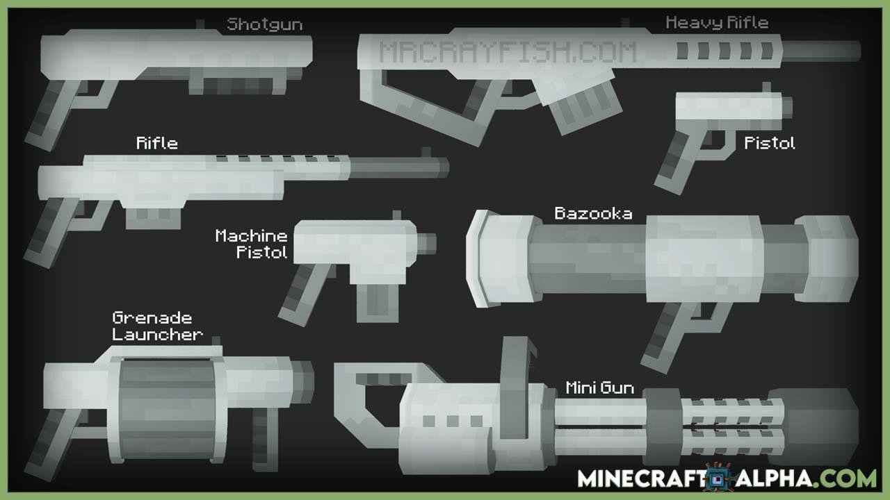 Minecraft MrCrayfish's New Gun Mod