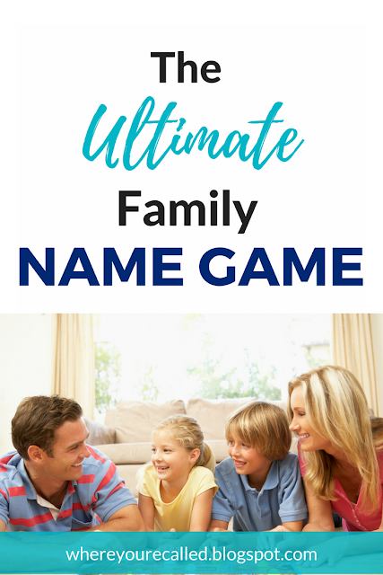Family Game; Family Game Night; Learning Names and Faces