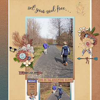 Creative Team, Annemarie, for Neia Scraps Designs - Free Spirit and Ginger Scraps June 2019 Inspiration Challenge