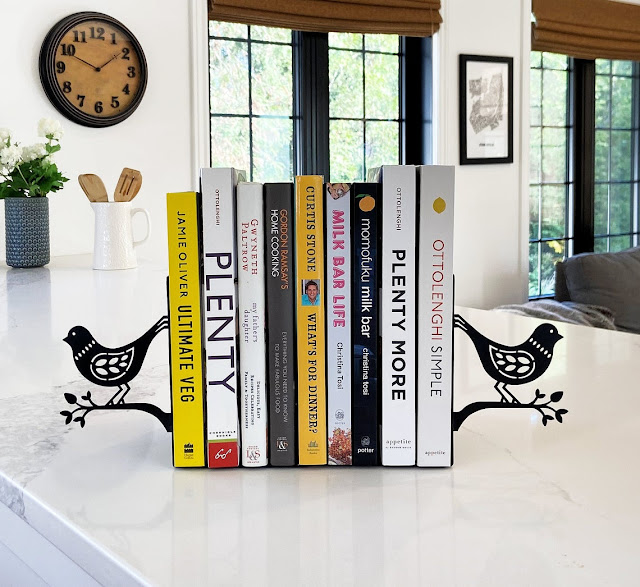 Attractive metal bird bookends will make you smile!