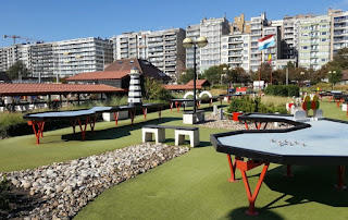 Snookergolf at Leopoldpark in Blankenberge
