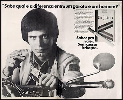 Propaganda  cigarros Kingston; Kingston cigarettes; propaganda anos 70; história decada de 70; reclame anos 70; propaganda cigarros anos 70; Brazil in the 70s; Oswaldo Hernandez;