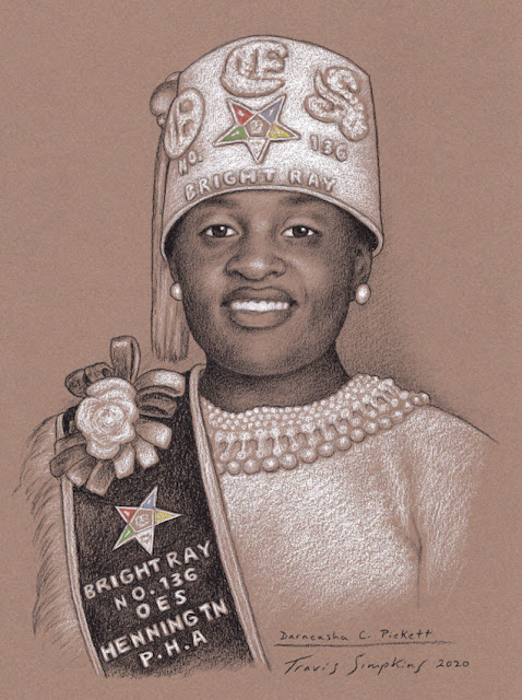 Darneasha C. Pickett. Bright Ray Chapter No. 136. Order of the Eastern Star, PHA. by Travis Simpkins