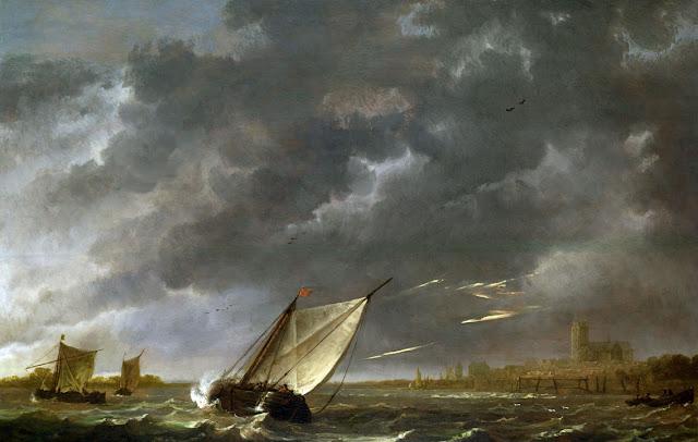 Альберт Кёйп - Маас в Дордрехте в грозовую погоду. 1645-50