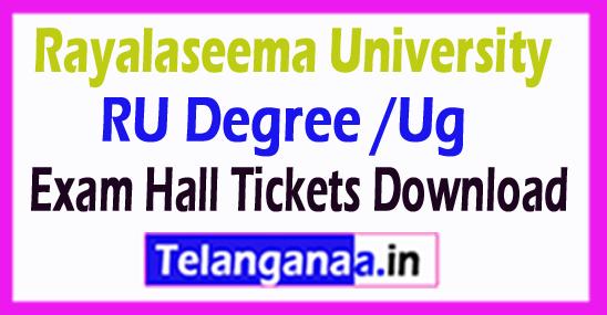 Rayalaseema University RU Degree /Ug Exam Hall Tickets Download