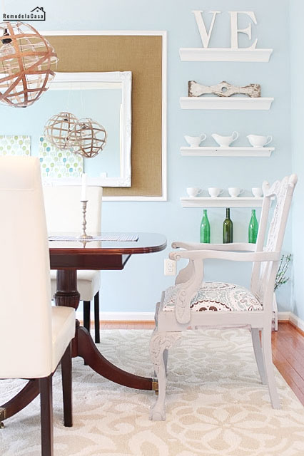 painted chippendale chair