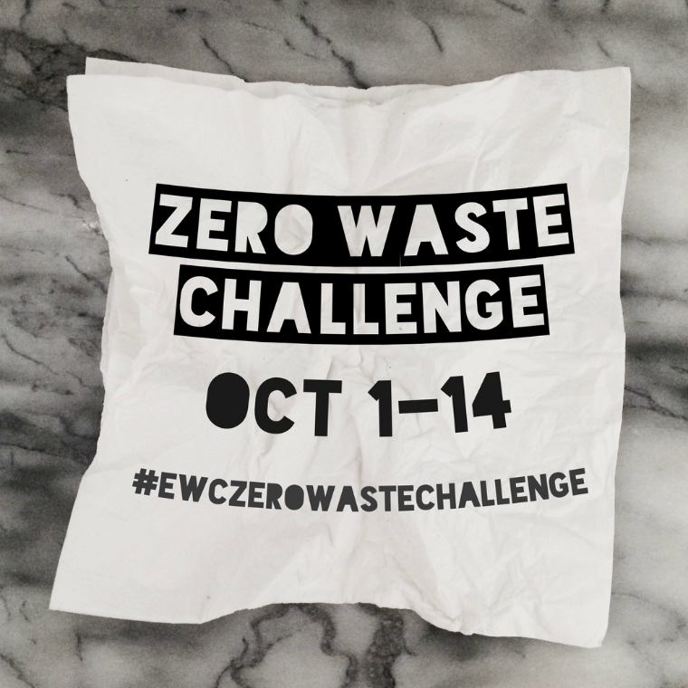 zero waste challenge with the ethical writers coalition
