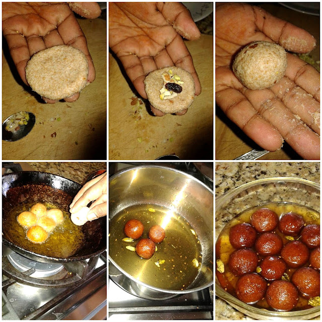images of Wheat Bread Jamun / Bread Gulab Jamun / Easy Bread Jamun Recipe / Stuffed Jamun Recipe
