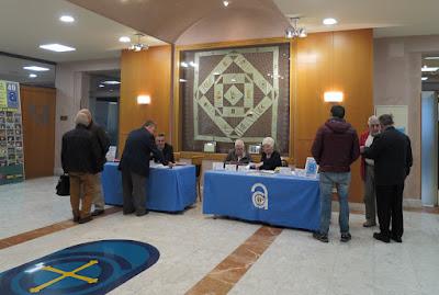Acto de matasellado del Centenario de la Coronación de la Santina en el Centro Asturiano de Oviedo