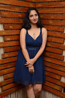 Radhika Mehrotra in a Deep neck Sleeveless Blue Dress at Mirchi Music Awards South 2017 ~  Exclusive Celebrities Galleries 011.jpg
