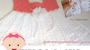 Vestido a Crochet para Bebé | Tutorial en español