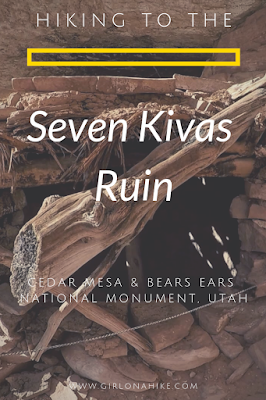 Hiking to the Seven Kivas Ruin via Shortcut Route