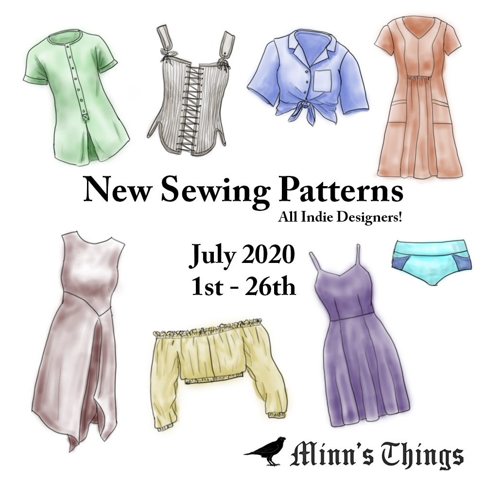 new list indie designers sewing patterns releases updates july 2020