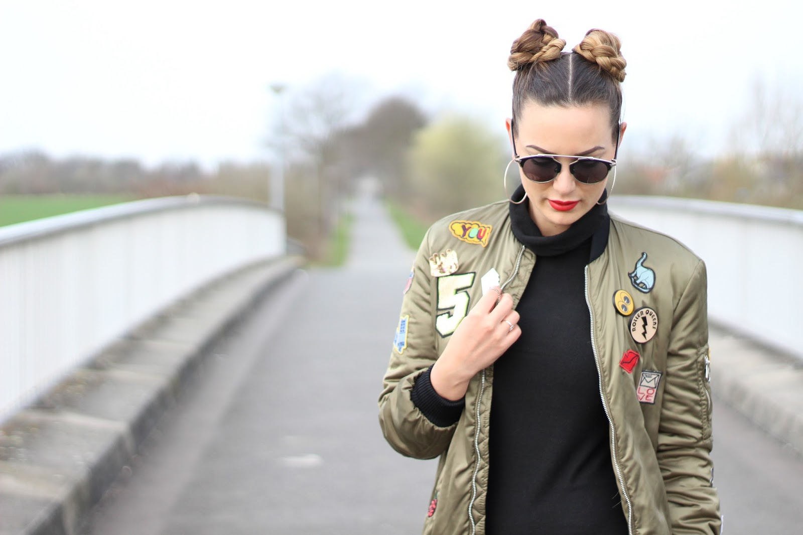 buy online 14992 b0ea2 Patched Bomber Jacket - VOGUE up like this