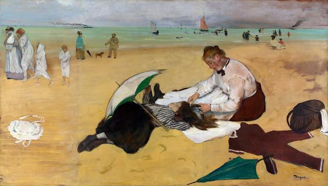 Эдгар Дега - Сцена на пляже (1869-1870)