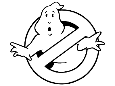 Ghostbusters logo outline for Cricut Design Space