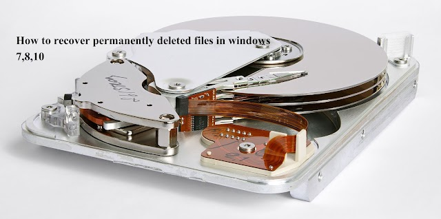 How to recover permanently deleted files in windows computer