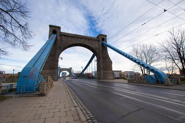 Ponte Grunwald al tramonto-Breslavia