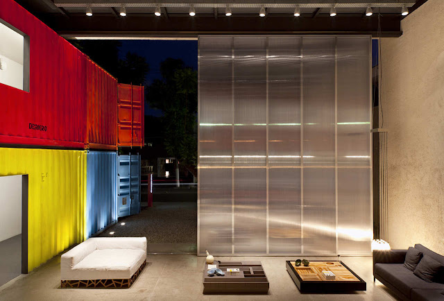 Decameron - Low Budget Colorful Shipping Container Store, Brazil 27