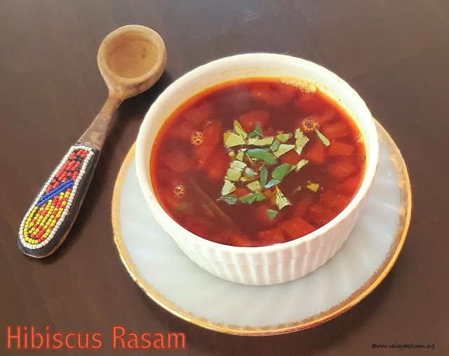 images of Hibiscus Rasam / Sembaruthi Rasam / Rasam Recipes