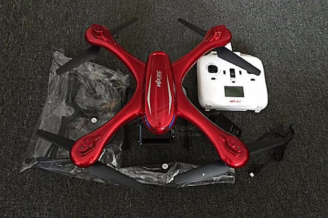 MJX X102H quadcopter Top view